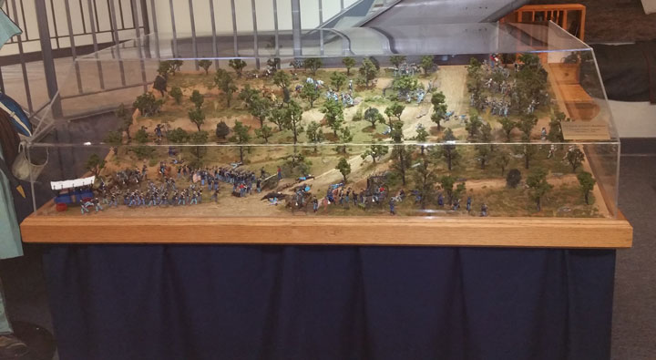 Battle of Devils Backbone Mountain Ridge Diorama